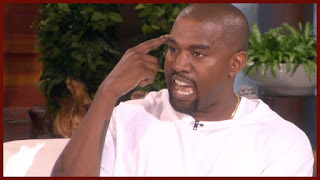 kanye west lost it on ellen's show