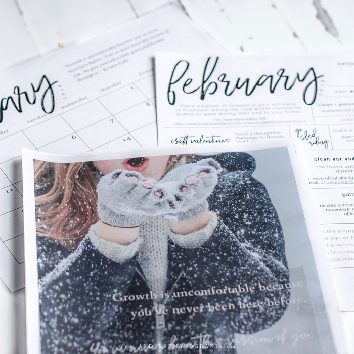 Stay organized and inspired in 2018 with these free printables - an inspirational quote, 2018 printable calendar, and monthly to do list.  |  www.andersonandgrant.com #freeprintable #printablecalendar