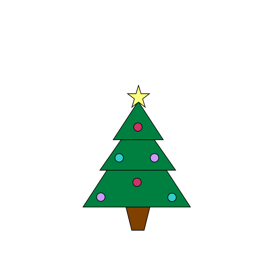 two free christmas tree clipart images both christmas graphics feature ...