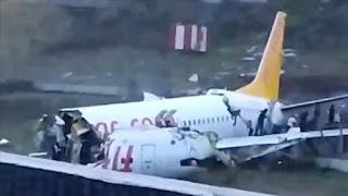 """والي إسطنبول: نقل 139 جريحاً للمشافي جراء تحطم الطائرة بمطار """"صبيحة"""""""