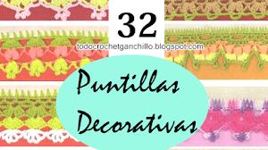 32 Patrones de Puntillas Decorativas