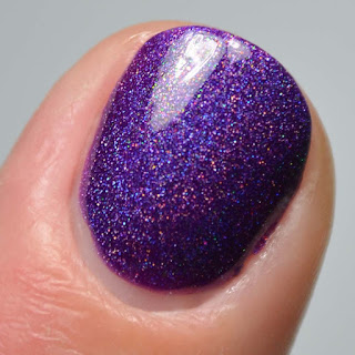 purple holographic nail polish