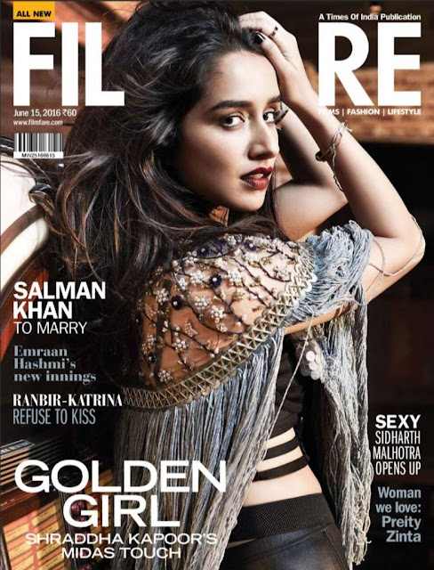 Actress, Singer, @ Shraddha Kapoor - Filmfare Magazine, June 2016