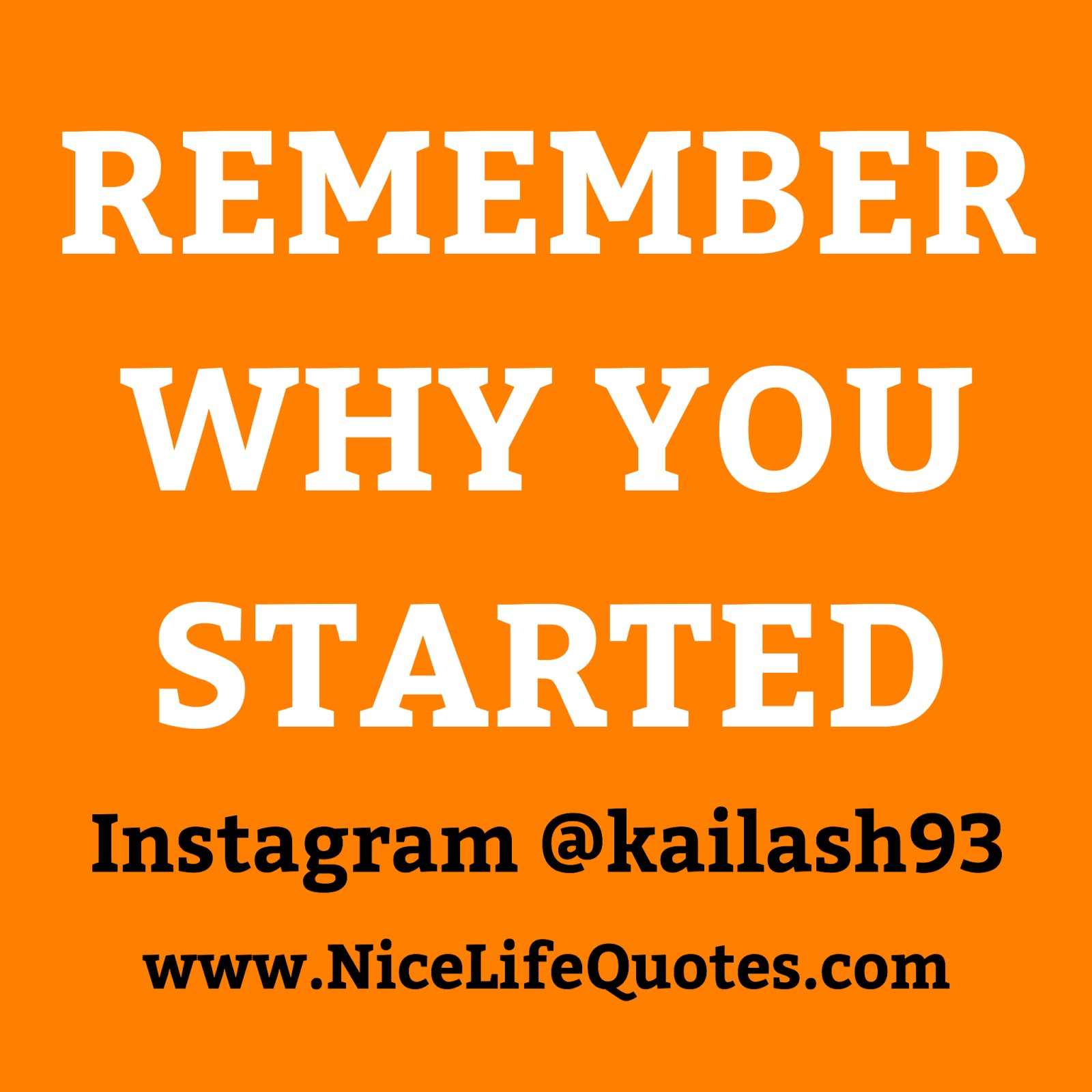 Remember Why You Started Nice Life Quotes