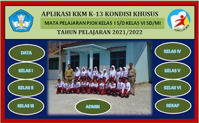 Aplikasi KKM K13 Kondisi Khusus Mapel PJOK SD/MI