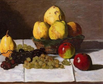 Claude Monet - nature morte aux poires et raisins,1867