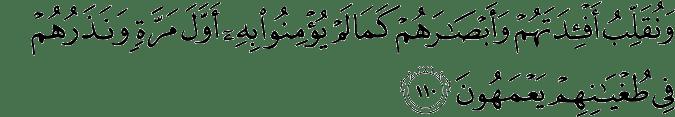 Surat Al-An'am Ayat 110