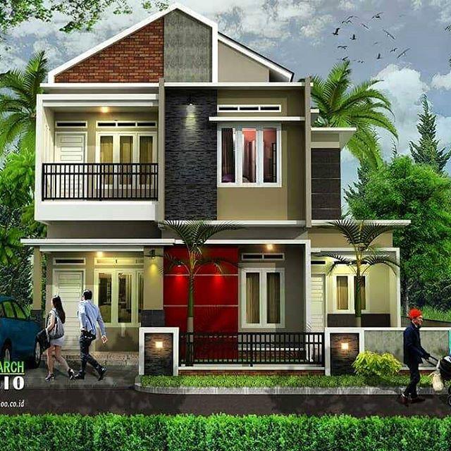 Model Rumah Tingkat 2 Minimalis Mungil Type 36 | Desain ...
