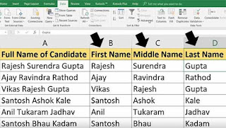 excel formula to split names