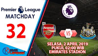 Prediksi Bola Arsenal vs Newcastle United 2 April 2019