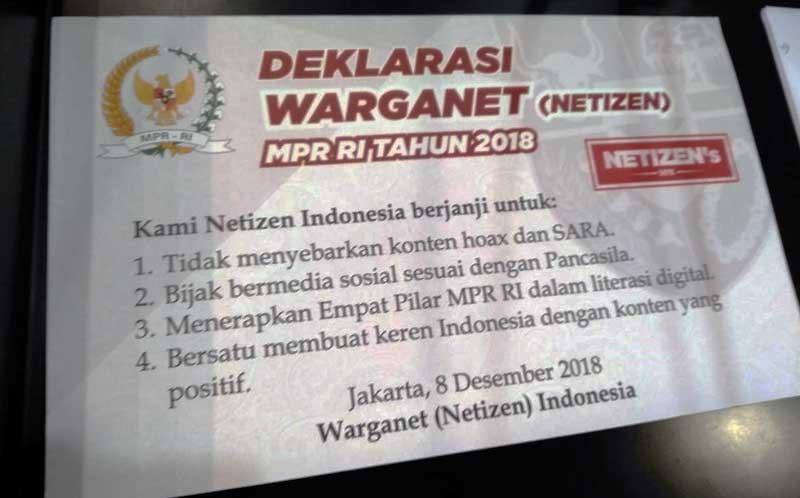 deklarasi netizen mpr ri