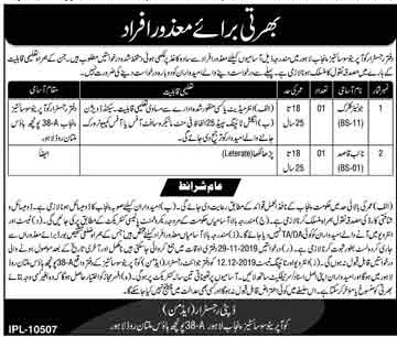 Disabled Jobs in Junior Clerk, Naib Qasid in Lahore