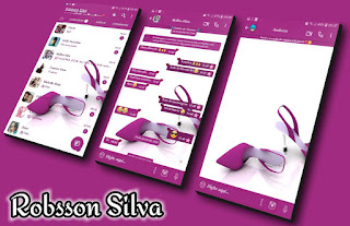 Slippers Pink Theme For YOWhatsApp & Fouad WhatsApp By Robsson
