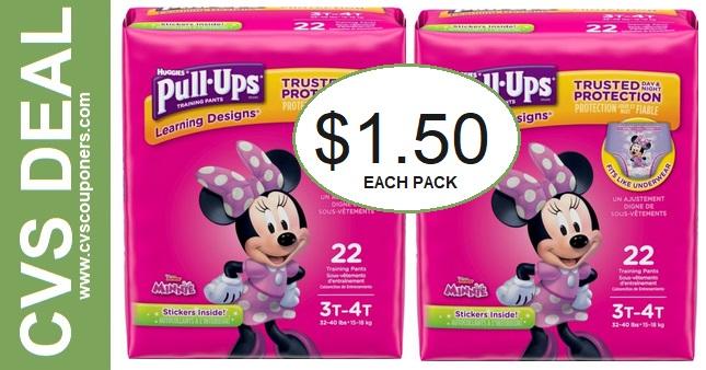 Huggies Pull-Ups CVS Deal $1.50 5-17-5-23
