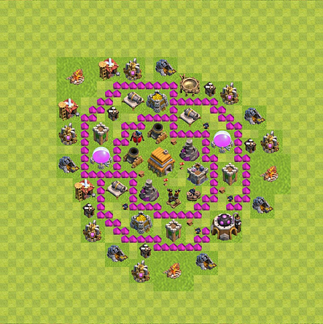 Base Trophy  Clash of Clans Town Hall 6 Terkuat
