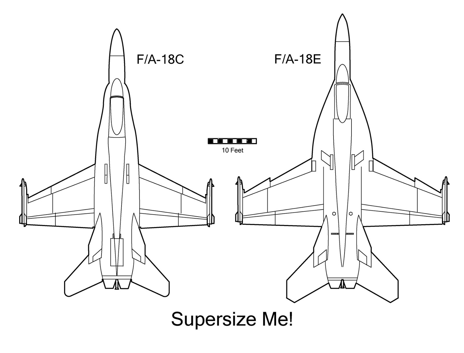 Fa 18 Super Hornets Outline