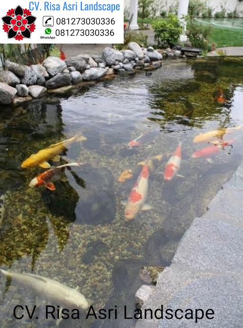 Tukang Kolam Koi Surabaya | Jasa Pembuatan Kolam Ikan Koi Minimalis Surabaya