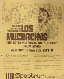 Cartel del Circo de los muchachos de Bemposta en Philadelphia