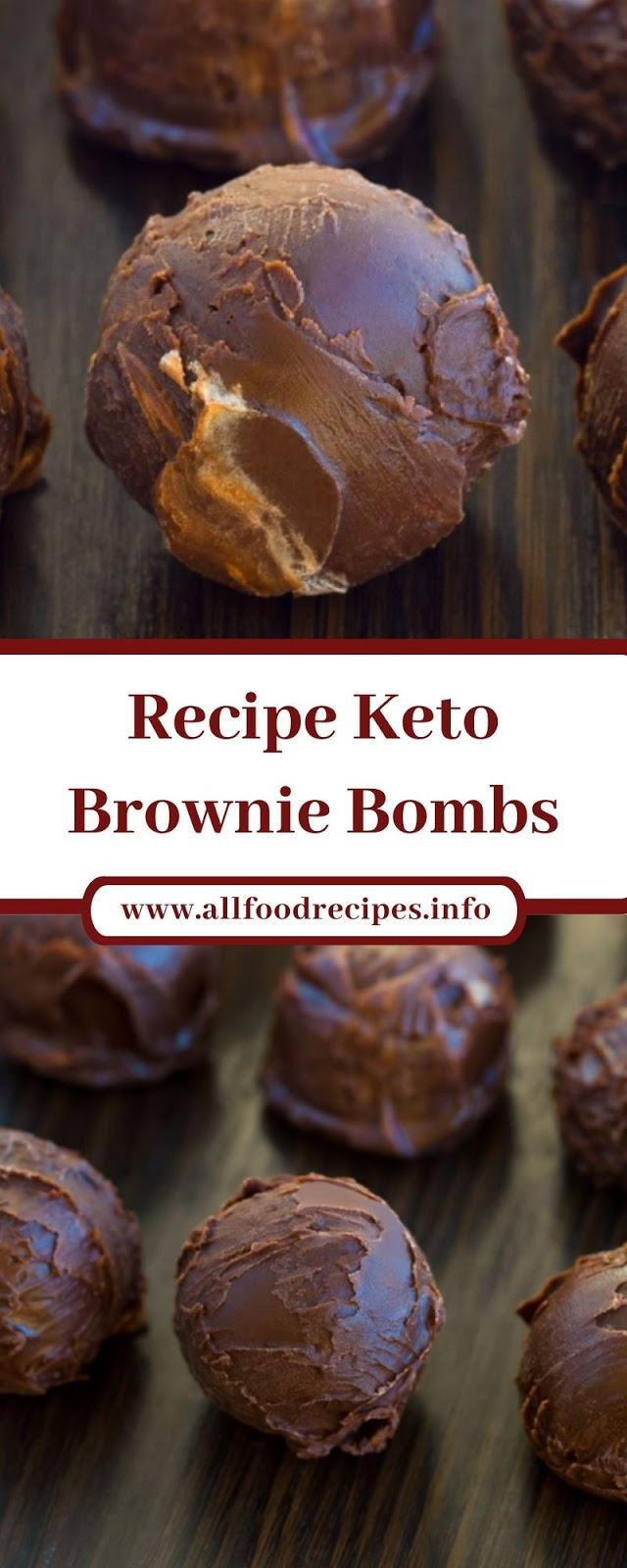Recipe Keto Brownie Bombs