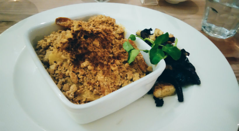winter vegetable crumble