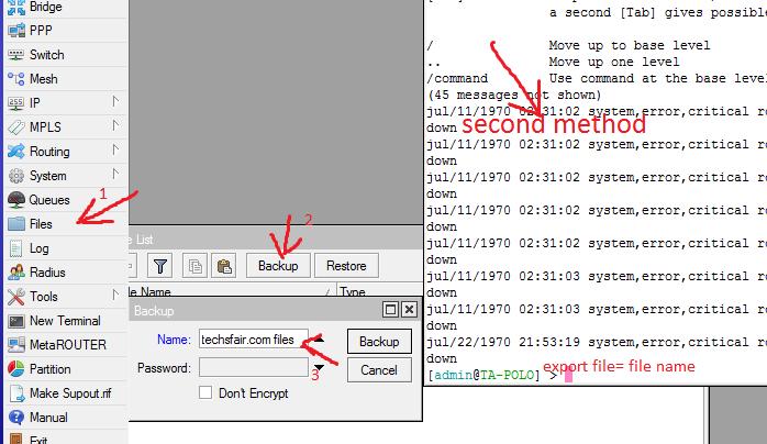 Configuration Backups On Mikrotik Routers -