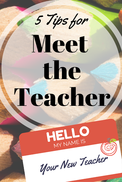 Love these simple and easy ideas for Meet the Teacher night
