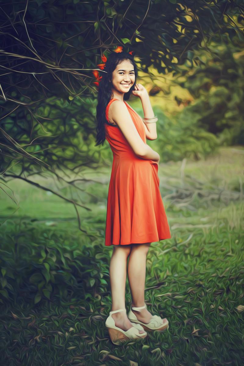 Hunting Foto Model Viona Utami  baju pendek