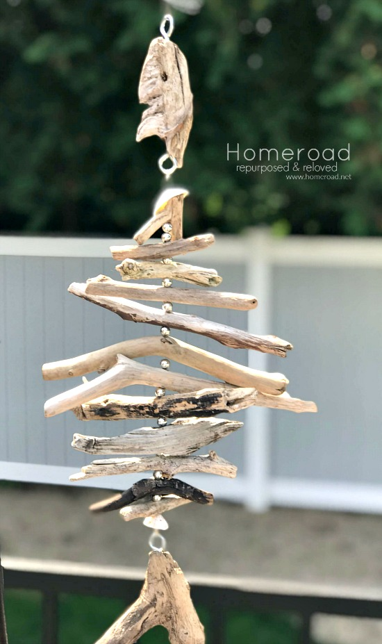 Hanging Fish made from Driftwood