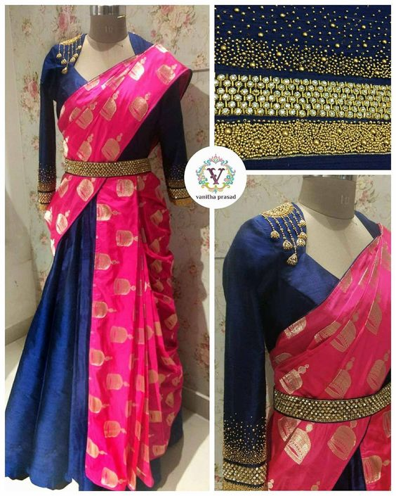 d740ed47f6d8c9 Don't forget to accessorize your hair with mogra flowers and complete your  whole saree look with kohl rimmed eyes !