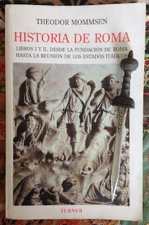 Portada de los libros I y II de Historia de Roma, de Theodor Mommsen