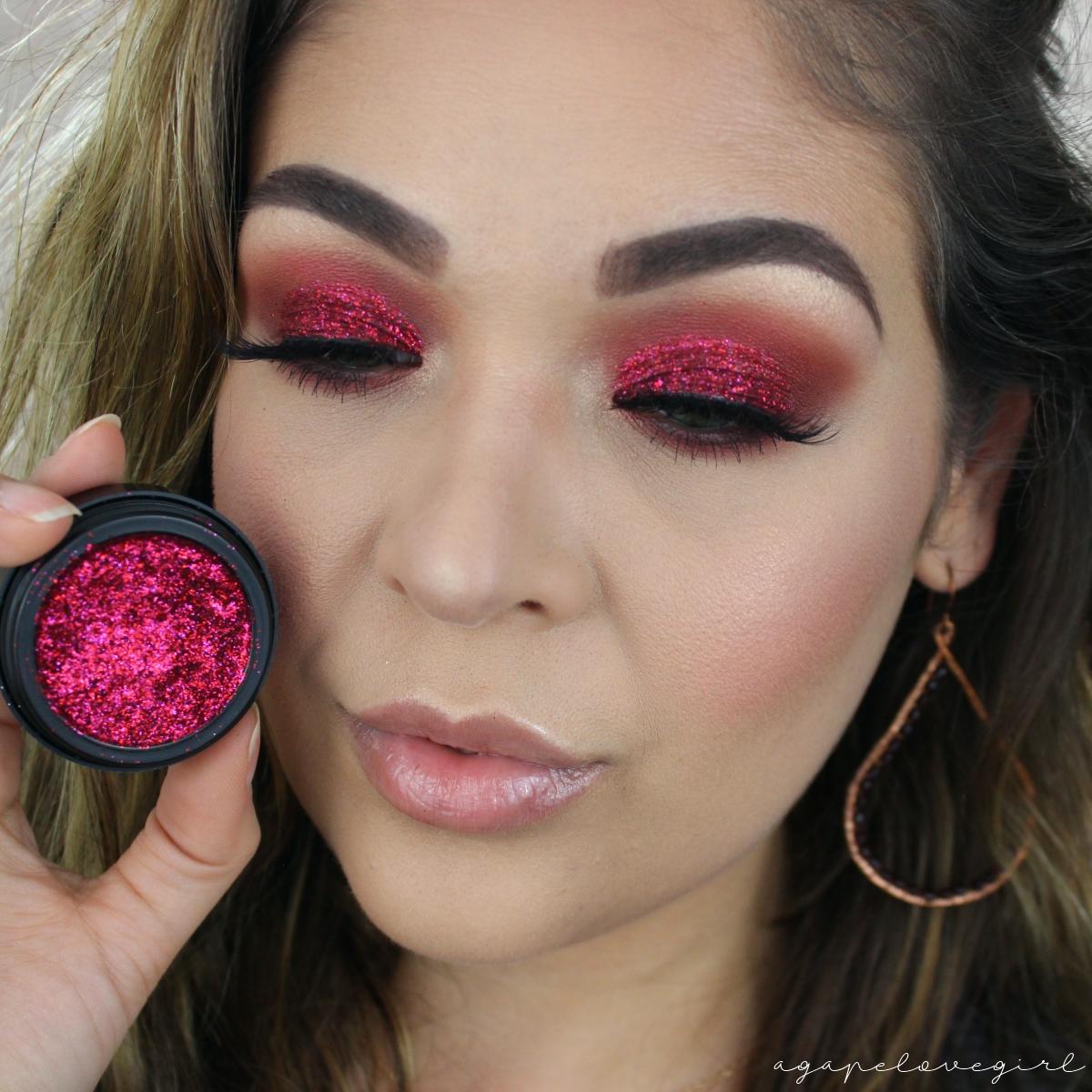 Red Glitter Smokey Eye Tutorial Valentines Day Makeup Inspo