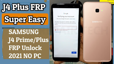 samsung j4 plus frp bypass without sim no app