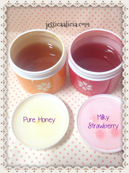 Review : Sugarpot Wax Pure Honey & Milky Strawberry by Jessica Alicia