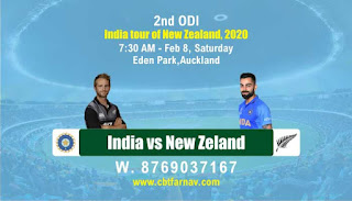 Today Match Prediction New Zeland vs India ODI 2nd ODI 100% Sure