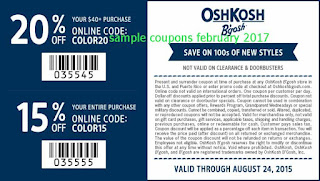 free OshKosh B'gosh coupons february 2017