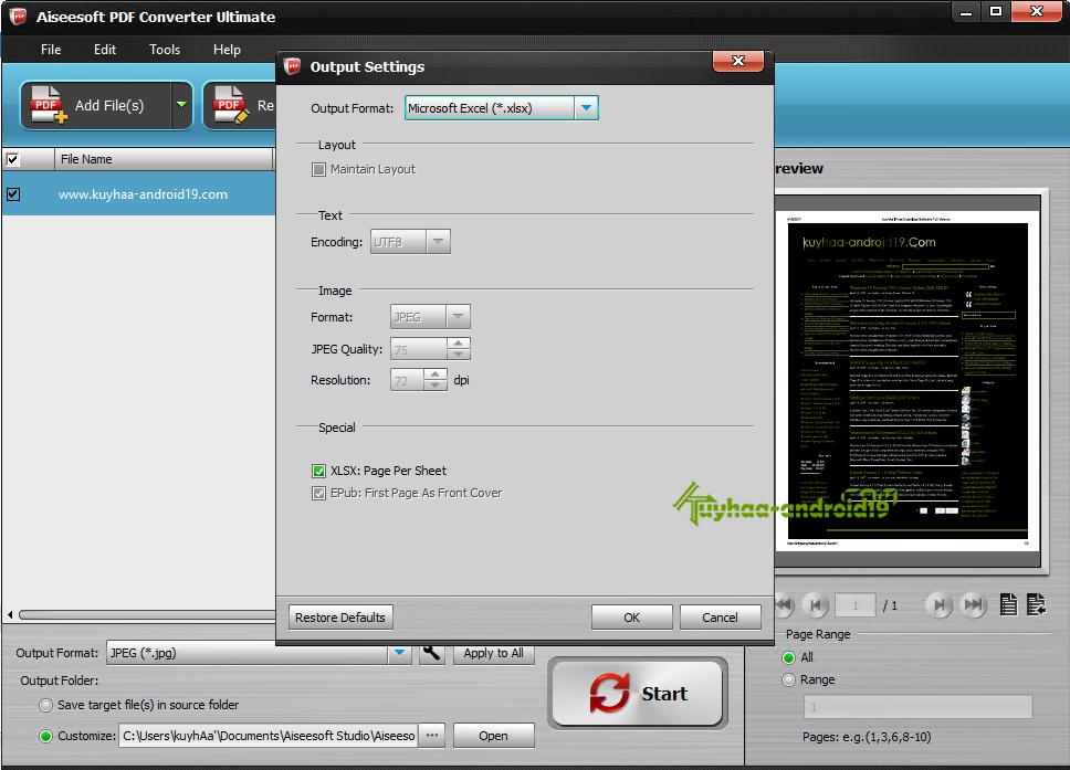 Aiseesoft PDF Converter Ultimate kuyhaa