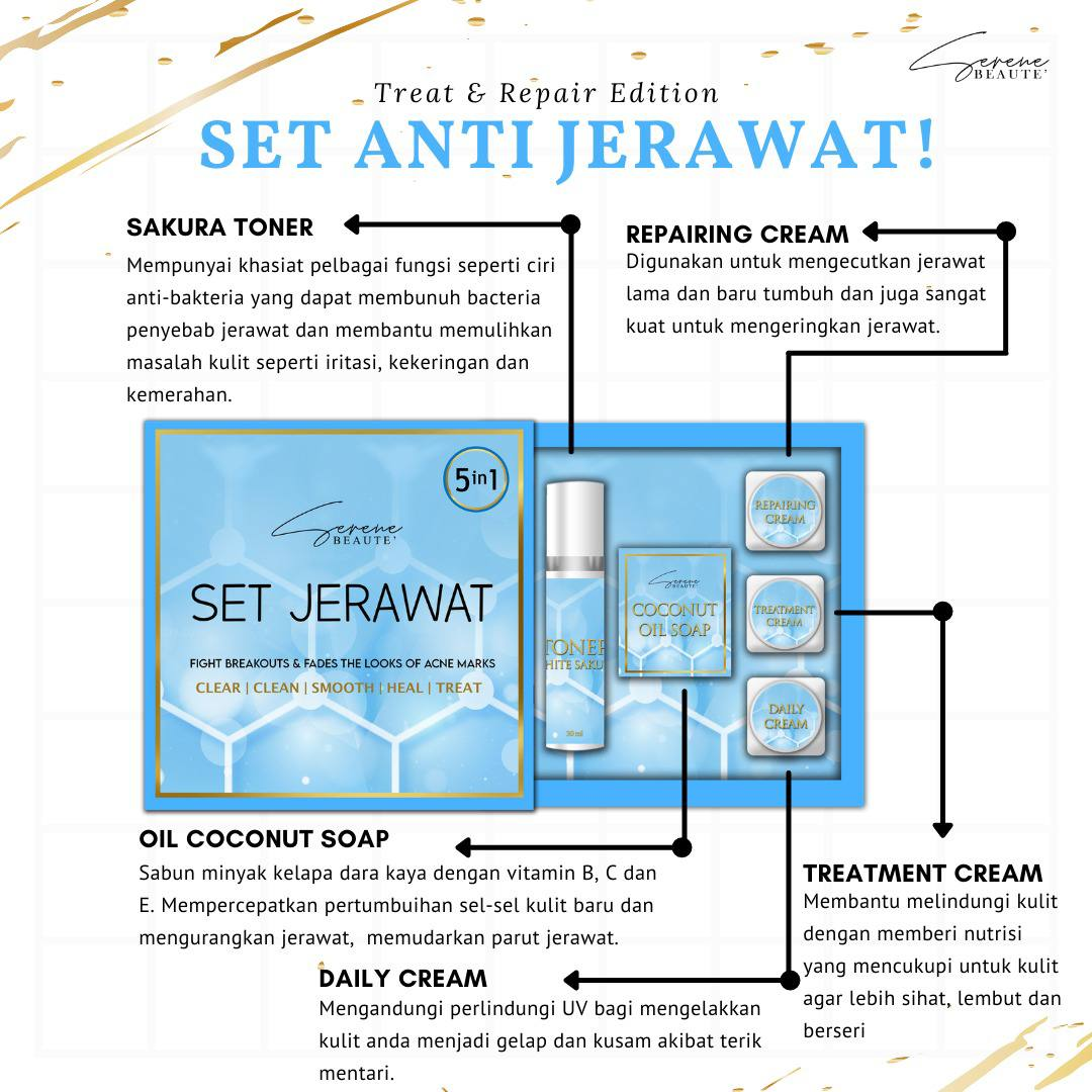 Serene Beaute HQ, Set Jerawat, Slimming Soap, Birdnest Serum, Beauty by Rawlins, Rawlins Lifestyle, Rawlins GLAM