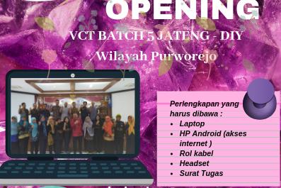 Pembukaan VCT Batch 5 Jawa Tengah-DIY Kabupaten Purworejo