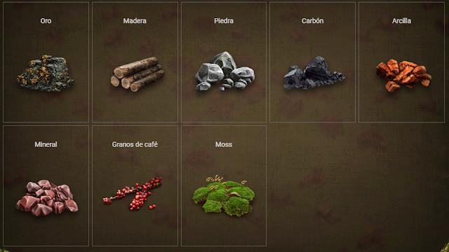 Recursos en Prospectors game
