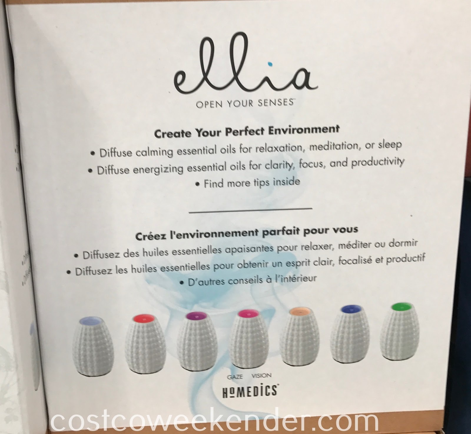HoMedics Ellia Gaze Diffuser: great for any home