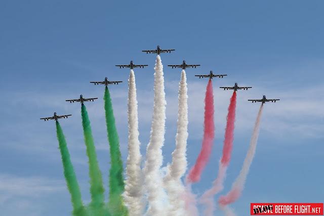 Frecce Tricolori sorvolo Modena