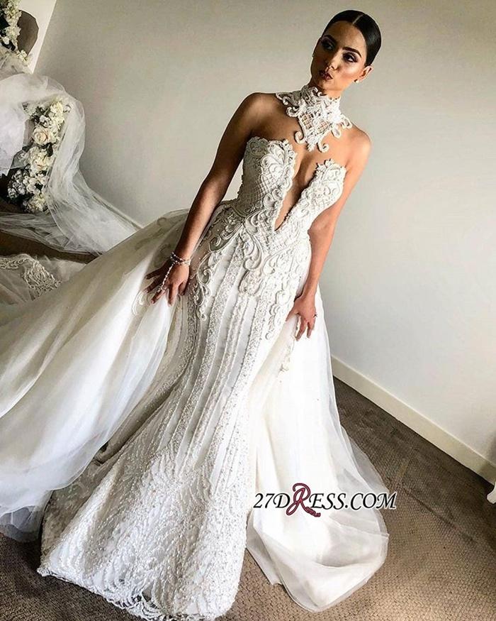 https://www.27dress.com/p/luxurious-high-neck-mermaid-sleeveless-lace-appliques-overskirt-bridal-gown-109232.html