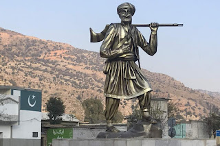 A statue of Ajab Khan Afridi and our new generation
