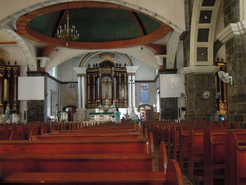The interiors of Tabaco Church in Albay