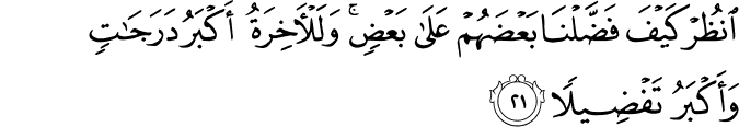 Surat Al Isra' Ayat 21
