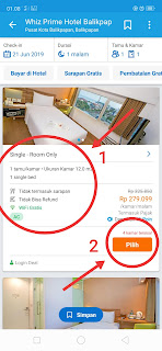 cara booking hotel traveloka