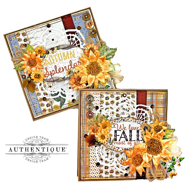 Really Reasonable Ribbon Fall Card Recipe by Kathy Clement