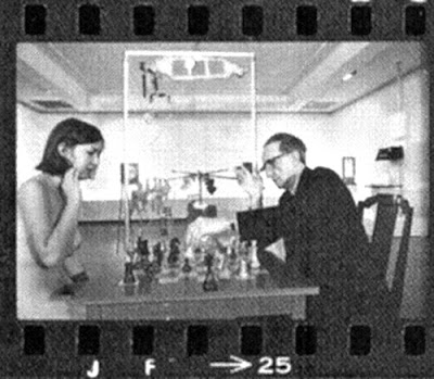 Julian Wasser   Duchamp Playing Chess with a Nude (Eve