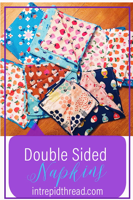 Self Binding Double Sided Napkins Tutorial