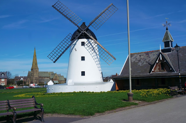 windmill on the green in lytham, lancashire